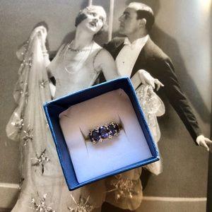 💯tanzanite 925 silver ring ❤️😘😊😍